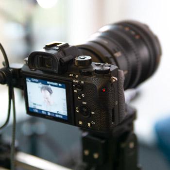 Kamera bei der Aufnahme