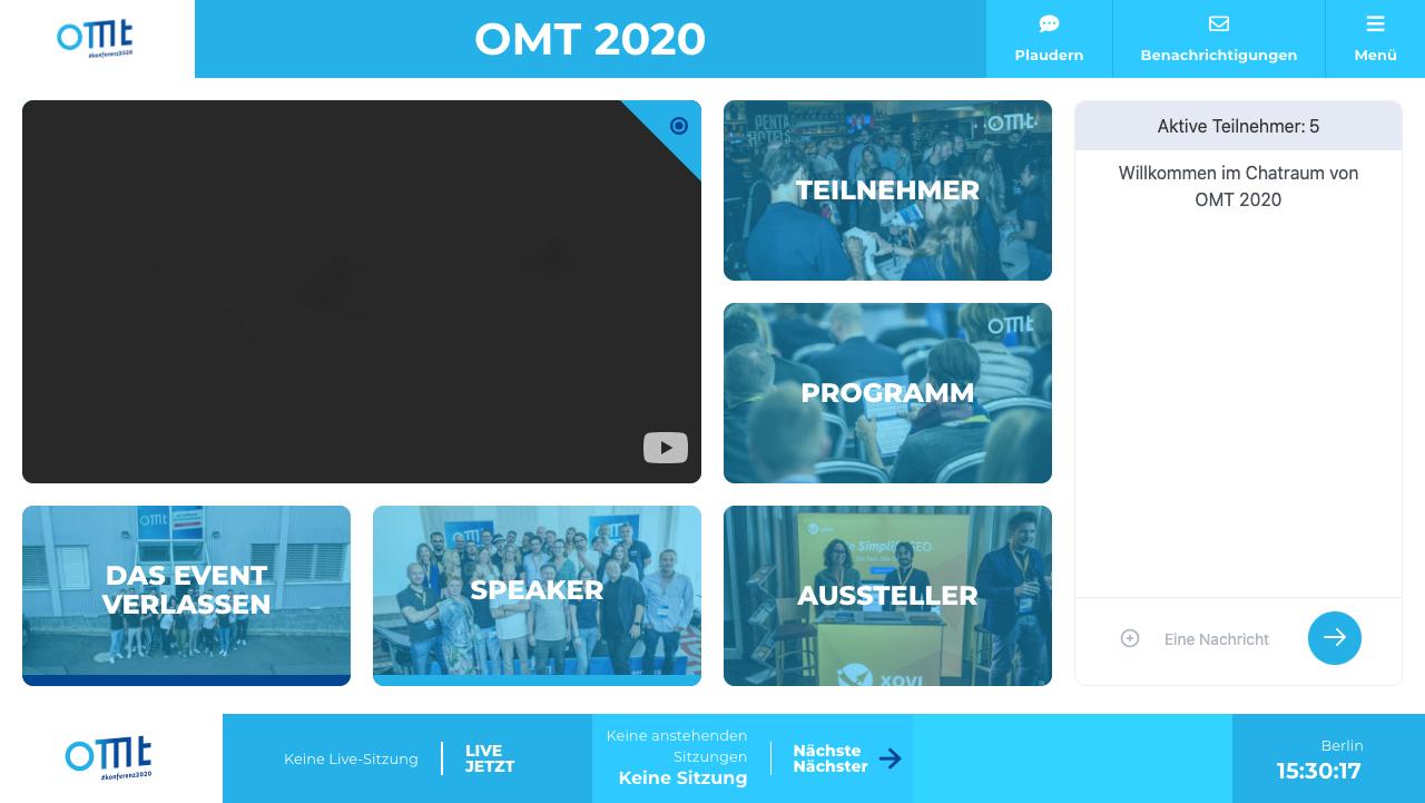 OMT Lobby mit verschiedenen Räumen
