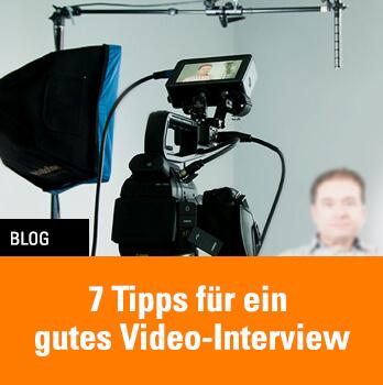 Tipps für ein gutes Videointerview