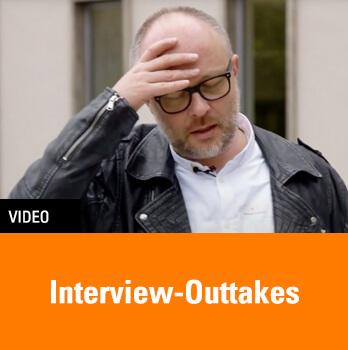 Interview-Outtakes eines Videodrehs