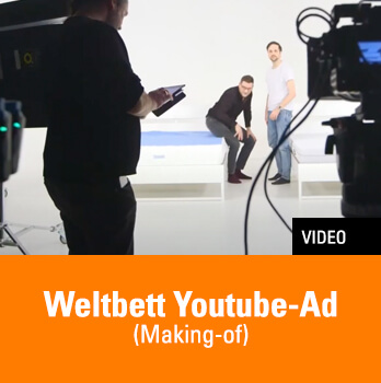 Bild vom Making-of der Weltbett YouTube Ad