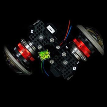 Zwei gekoppelte 180-Grad-Kameras für